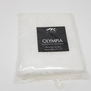 Moda at Home Inc. Olympia White Shower Curtain